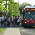 The 86 Elmvale picking up passengers